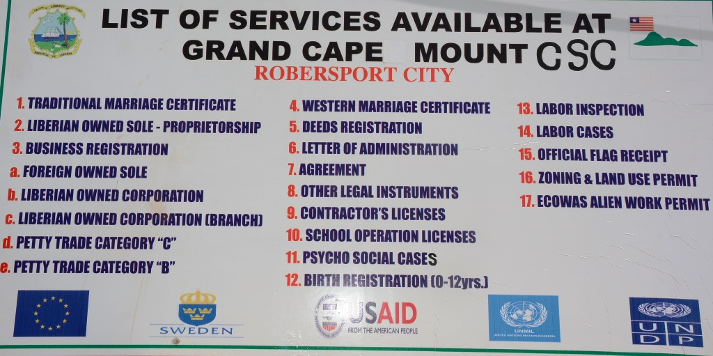 Dedicated of Grand Cape Mount County Service Center