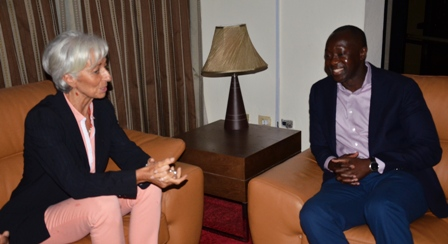 IMF Managing Director, Ms. Christine Lagarde Visits Liberia Today