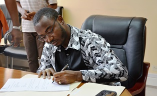 PR BSK Minister Signed a joint Grant Agreement