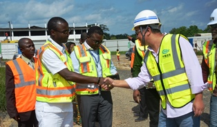 Finance Minister Tours the Upgrading and Expansion work at RIA