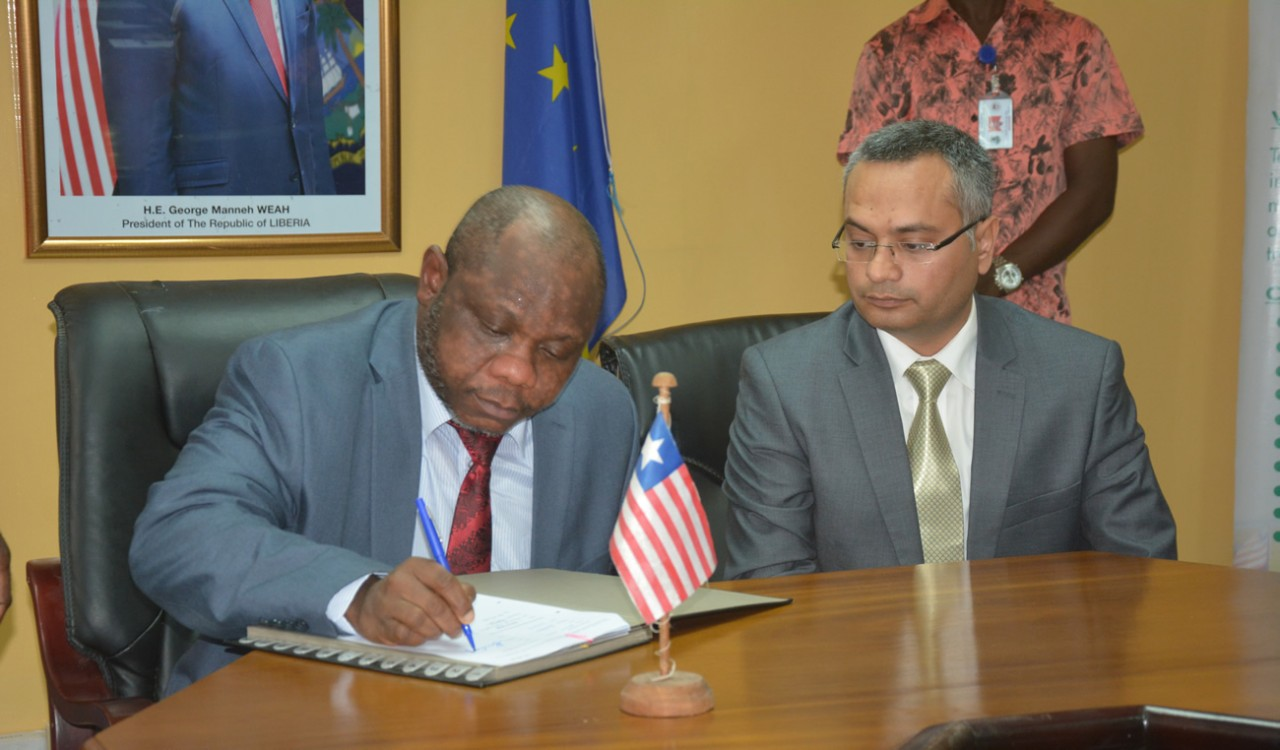 Finance-Minister-Hon-Samuel-D.-Tweah-Jr-signing---on-behalf-of-the-Government-of-Liberia-US-21.5million-to-extend-Electricity-Grid-in-Monrovia_
